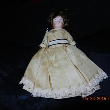 "Antique Doll Identification Help 5 1/2"" Blue Stamp on Back German?"