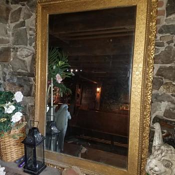 Large Antique Mirror - Furniture