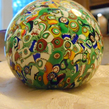 Vintage Paperweight - Art Glass