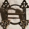Antique viking revival buckle brooch, Norway