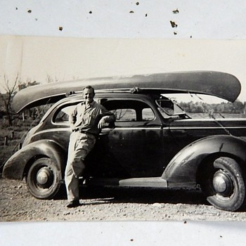My Grandfather many years ago with his ride - Photographs