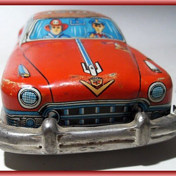 Litho FRICTION CAR (( Toy )) -- FIRE CHIEF  (( Part 2 )) - Toys