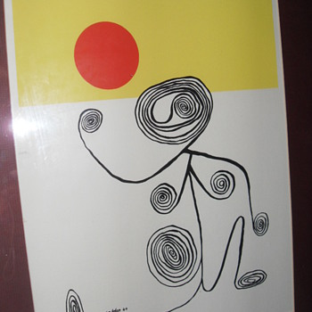AN ORIGINAL LITHOGRAPH SIGNED CALDER 44