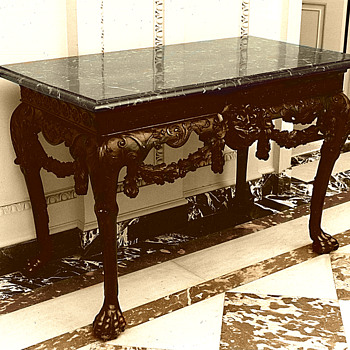 A 2nd Irish George ll Table To Match My Table At Kykuit, Rockefeller Country Home, Originally Purchased at Tiffanys in 1908 - Furniture
