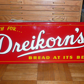 Dreikorn's Bread Sign 1930's