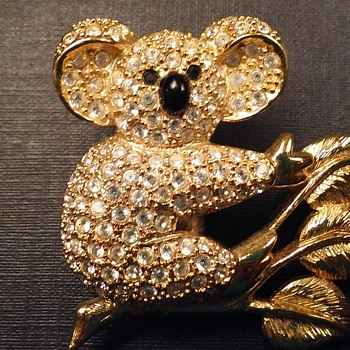Napier koala bear brooch - Costume Jewelry