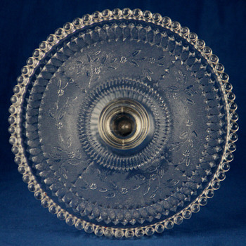 Dot cake stand by Findlay Flint Glass C0. c1890 - Glassware