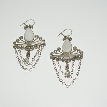 Costume (Handmade?) Earrings - Costume Jewelry