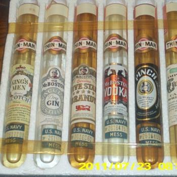 world war 2 thinman liquor tubes - Bottles