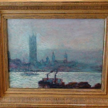 "Fredrick ""Childe"" Hassam Reproduction ""Houses Of Parliament Early Evening"" - Fine Art"