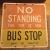 """1960s """"NO STANDING BUS STOP"""" sign from New York City"""