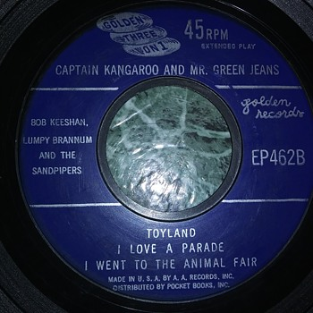Captain Kangaroo And Mr. Green Jeans...On Extended Play 45 RPM Vinyl - Records