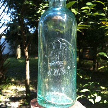 """""""Maverick"""" Hutchinson Soda   J.M.B.  with picture of Eagle - Bottles"""