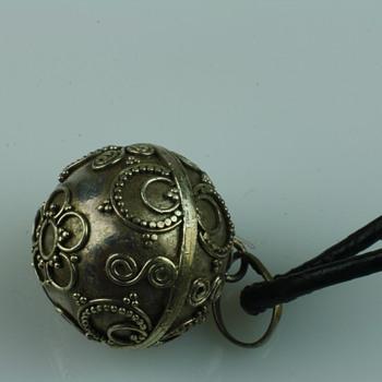Silver chime/bola pendant - Fine Jewelry