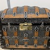 Restored Antique Martin Maier Alligator Tin Trunk