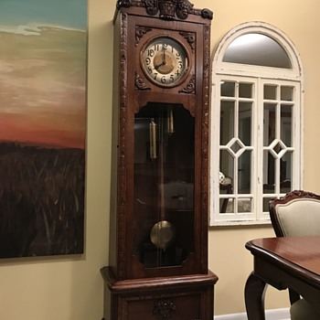 Restored late 19th century grandfather clock  - Clocks