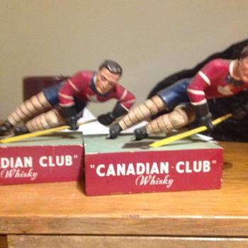 Canadian Club whiskey bar statues