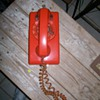 Groovy Man! Orange Wall Phone
