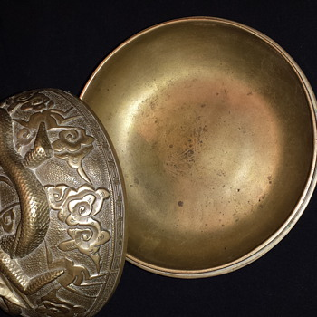 My brass bowl that my late uncle originally owned