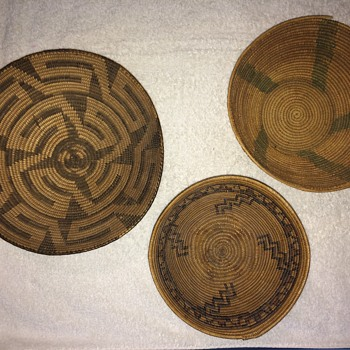 3 woven bowls  - Native American
