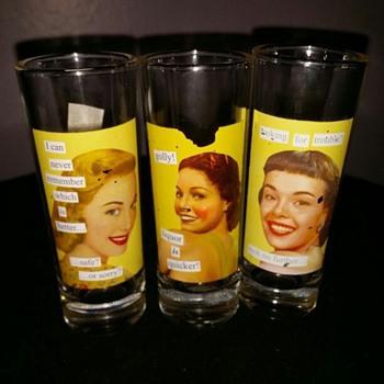 Drinking Glasses or shot Glasses.  - Glassware