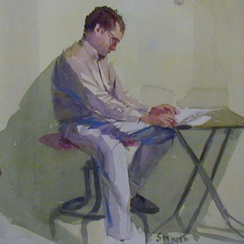 Gerald Spencer, California artist, watercolors, part 2 - Fine Art
