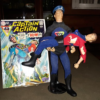 Captain Action Comic Book Issue #3 March 1968 Plus Action Figure Reeeactment - Comic Books
