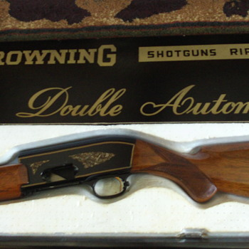 Belgium Browning Double Automatic Shotgun