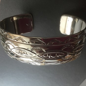 Navajo Stamped Cuff Bracelet - Any Experts on Hallmarks? - Native American