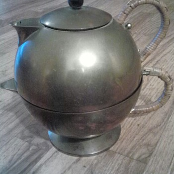 Vintage Modern Impressed Mark Cesare Lacca Double Teapot? - Mid-Century Modern