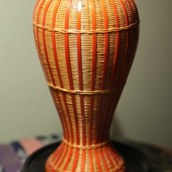 Beautiful Wicker Vase - from China - Asian