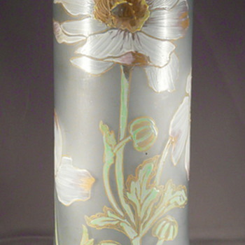 Kralik or Montjoie enameled glass vase. ? - Art Glass