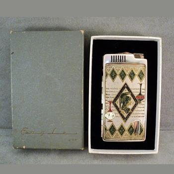 Cigarette Case and Lighter Greek Roman  - Tobacciana
