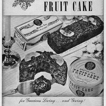 1950 - Martha Ann Fruitcakes Advertisement