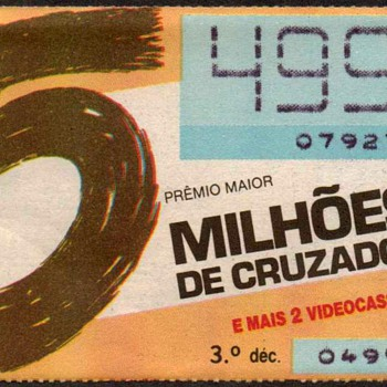 1989 - Brazilian Lottery Ticket - Paper