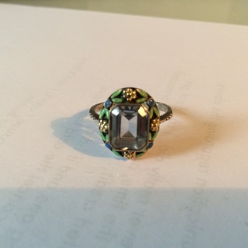 Arts & crafts ring. Bernard Instone?