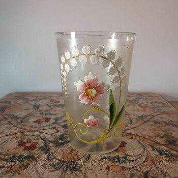 Painted Drinking Glass - Art Glass