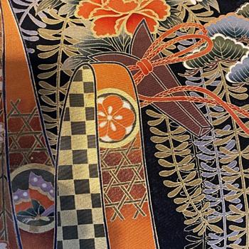Japanese Printed Silk Panel - Asian