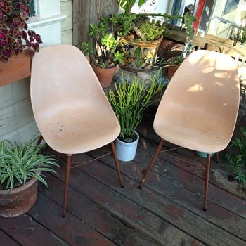Mid-Century Molded Plastic Chairs - Mid-Century Modern