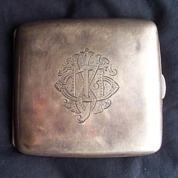 Silver Cigarette Case - Tobacciana