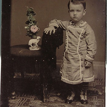 Ceramic Figurine displayed in tintype - Photographs