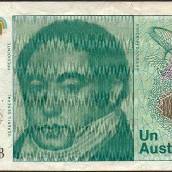 Argentina - (1) Austral Bank Note