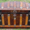 "34"" Antique Barrel top Trunk Original Condition"