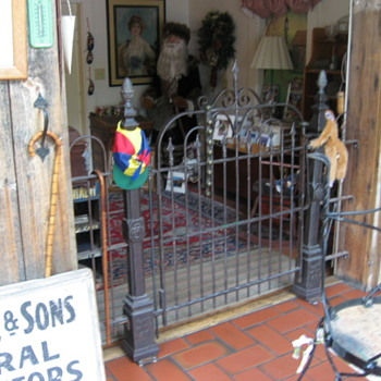 Antique Cast Iron Gate w/ Posts and Iron Fence I made. - Tools and Hardware