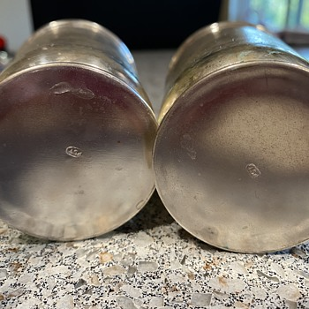"""Silver cups stamped """"pst"""". - Silver"""