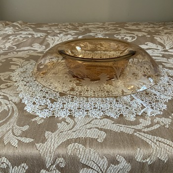 Help in identifying this Amber Console Bowl! - Glassware