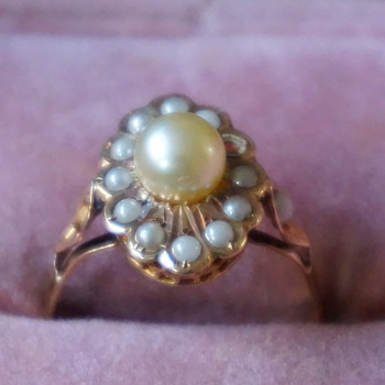 Victorian Antique Tiny Pearl Ring - Fine Jewelry