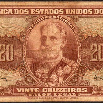 Brazil - (20) Cruzeiros Bank Note