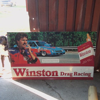 Winston drag race tin - Signs