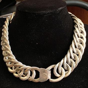 Antique William Spratling Sterling Silver Large Link Necklace  - Fine Jewelry